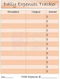 Free Daily Expense Tracker Excel Template Daily Spending Log Expense Tracker Printable Pdf By Tidymighty
