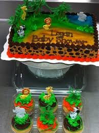 cute safari theme baby shower cakes and cupcakes to match yelp