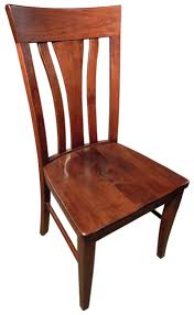 Custom Built Dining Room Tables by Oak Park Dining Room Chair Front View Amish Furniture Gallery