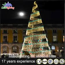 large outdoor waterproof led spiral decoration yellow