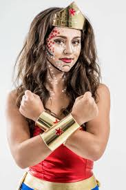 halloween costumes wonder woman diy wonder woman costume with pop art makeup tutorial halloween