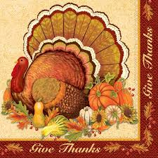 give thanks thanksgiving dinner paper napkins 16 count walmart