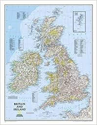 wall maps britain and ireland wall map tubed isles national