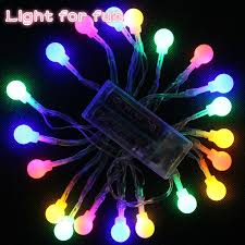 cheap small round ball string christmas lights outdoor multi color