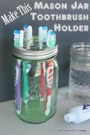 Bathroom Jars With Lids Mason Jar Toothbrush Holder Toothbrush Holders Craft And Mason