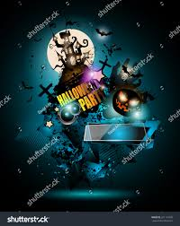 halloween night event flyer party template stock vector 321110390