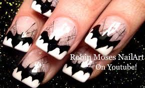 nail art maxresdefault bat nail art easy arteasy halloween nails