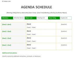 meeting schedule template sample agenda template 41 download