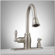 waldron single touchless kitchen faucet endearing touchless kitchen faucet brushed nickel shining set home