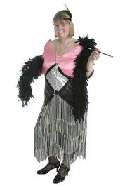pink and silver flapper costume women u0027s plus size costumes