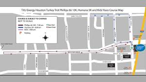 houston event map runners lace up for annual houston turkey trot event