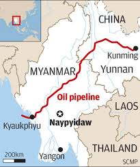 Kunming China Map by Myanmar Pipeline Gives China Faster Supply Of Oil From Middle East