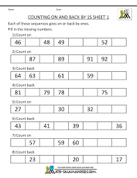 free counting worksheets counting by 1s
