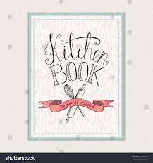 cover design kitchen book recipes cooking stock vector 397429168