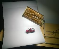 compact diy photography lightbox with foldable lamp