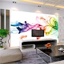 custom photo wallpaper modern 3d wall mural wallpaper color smoke