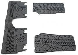 jeep wrangler mats mopar 82210166ac mopar floor slush mats with tire tread pattern