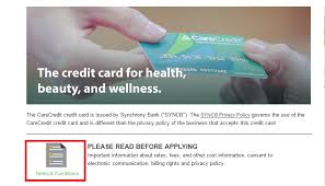 apply for carecredit credit card check application status