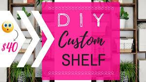tutorial diy custom wood shelf how to make built in shelves