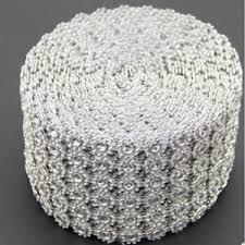 bling ribbon mesh diamond wrap rhinestone bling ribbon wedding party cake table