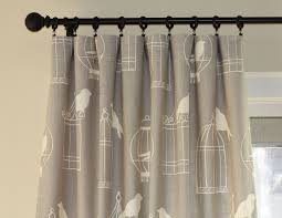 hand crafted custom designer draperies duralee birdcage on smoke