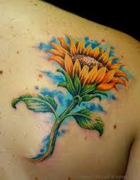 65 amazing sunflower tattoos