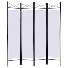 Privacy Screen Room Divider Costway White 4 Panel Room Divider Privacy Screen Home Office