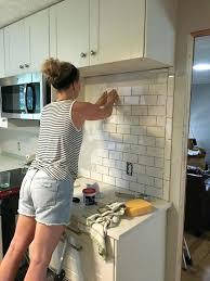 How To Install A Kitchen Backsplash How To Install Kitchen Backsplash Tile Bloomingcactus Me