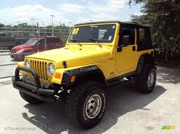 yellow jeep 2003 solar yellow jeep wrangler sport 4x4 33329397 gtcarlot com