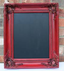 Chalkboard Home Decor by Decorations Classic Portrait Rectangular Red Wooden Small