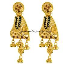 kerala style earrings gold earrings for women in india luxury green gold earrings for