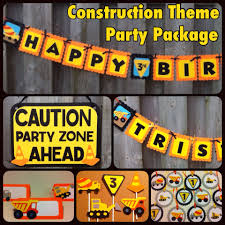 construction theme party package birthday party decor baby