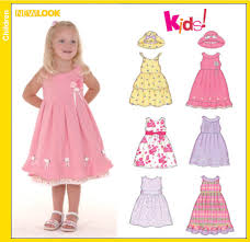 new look 6577 toddler dresses and hat