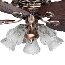 5 Light Ceiling Fan Blade And 5 Light Cognac Color Ceiling Fans With Lights Pertaining