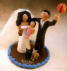 custom wedding cake toppers basketball wedding cake topper custom wedding cake toppers