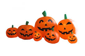 amazon com 7 5 foot long inflatable halloween pumpkins patio