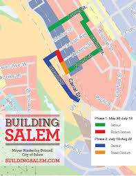 Map Of Salem Massachusetts by Canal Street Closures Begin Salem Traffic Alert Salem Ma Patch