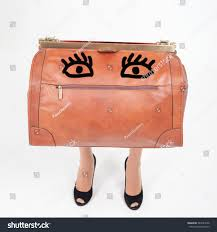 funny luggage womans legs hand luggage stock photo 384721096