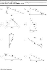 trigonometry inverse function worksheet