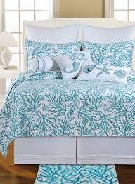 Coastal Themed Bedding Amazon Com Cora Blue Quilt King Size 108x92 Home U0026 Kitchen