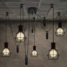 aliexpress com buy 5 heads chandelier spider loft vintage