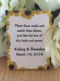 sunflower seed wedding favors wine cork wedding seed packets favor universe