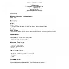 exles of high school resumes objective hs resume template for highschool students high school