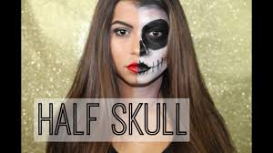 half halloween makeup half skull halloween makeup tutorial amanda pulitano youtube