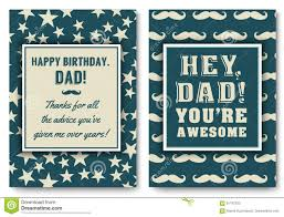 dad birthday card with words of love stock vector image 91187250