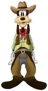 goofy cowboy clipart