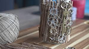 diy rustic home decor upcycled glass jar youtube