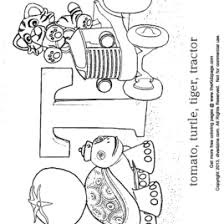 coloring page for letter t kids drawing and coloring pages