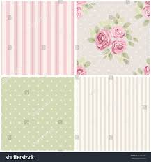 set cute seamless shabby chic patterns stock vector 313723391