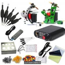 we offer a selection of 2 machine tattoo kits with a range of